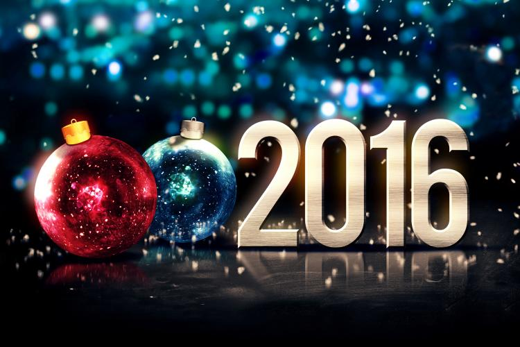 2016 ornaments new year