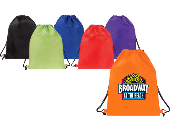 basic drawstring backpack in a variety of colors