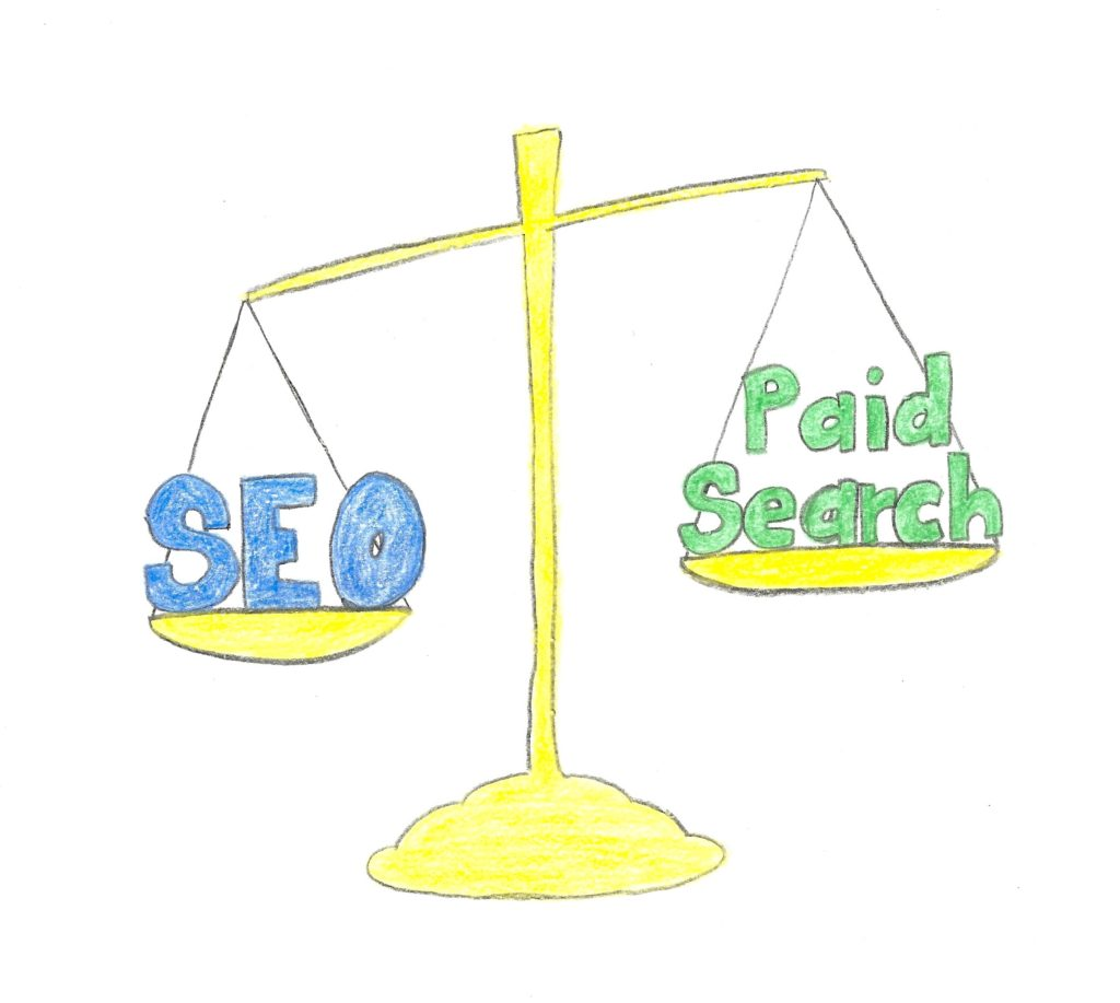 scale measuring SEO vs Paid Search